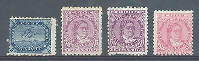 Cook Is 1893-1900   sg.11, 14, 14a, 16 MH