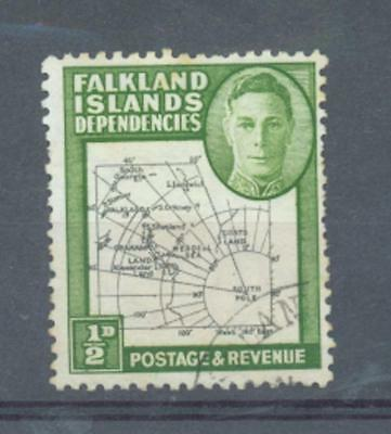 "Falkland Dependencies 1946 Thick map VARIETY missing ""I"" in Shetland Is sg.85"