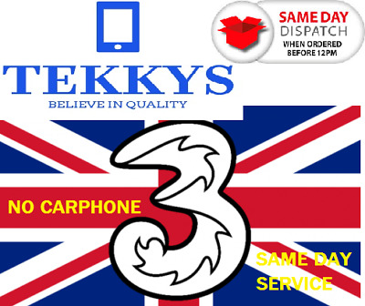 Iphone 5,5s,6,6s,6,6s,Plus,7,7plus& 8,X THREE EXPRESS Unlock Service NO CARPHONE