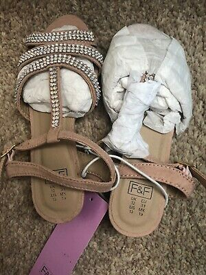 BNWT Girls Dimonte Nude Party Wedge Sandals RRP £12 F&F Size 12