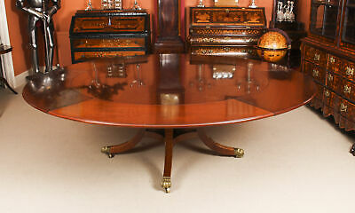 "Vintage 7ft 6"" Diam Jupe Mahogany Dining Table by William Tillman  20th C"