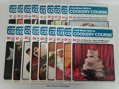 Cordon Bleu Cookery Course Vol.3 Issues 37 - 54 - Second Edition 1970's Purnell