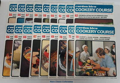 Cordon Bleu Cookery Course Vol.4 Issues 55 - 72 - Second Edition 1970's Purnell
