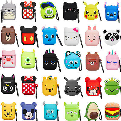 3D Cartoon Earphone Protective Silicone Cover For Apple Airpods Charging Case