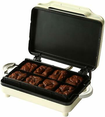Sweet Treats Brownie Maker 0.760 Watt Cream Non Stick Plates Fast Cooking Time