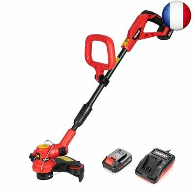 TEENO sans fil Coupe-bordures sans fil - 30 cm - 20V - 2 Ah Lithium Coupe