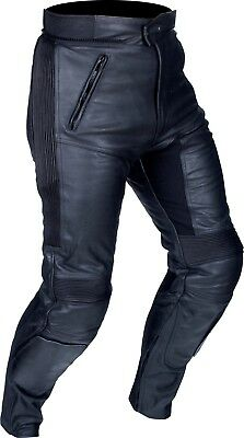 Buffalo Raptor Black Leather Sport Motorcycle Trousers New