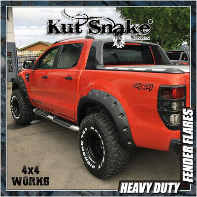 Kut Snake Wheel Arches Fender Flares Ford Ranger PXII PXIII Wildtrak  (2015-on)
