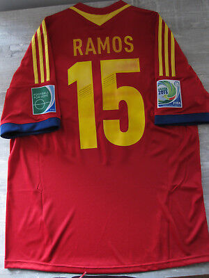 newest collection 3be40 44f12 SERGIO RAMOS #15 Spain Real Madrid Shirt Camiseta Confederations Cup 2013