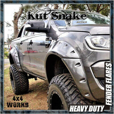 Kut Snake Wheel Arches Fender Flares Ford Ranger (2011-on) Monster Wide Smooth