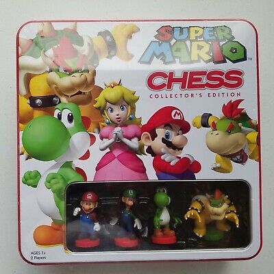 SUPER MARIO CHESS - In Colorful Tin - USAopoly - NEW - Unused
