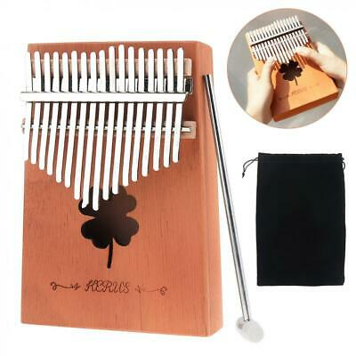 Kalimba 17 Key Thumb Piano Mbira Mini Keyboard Instrument Single Board Mahogany