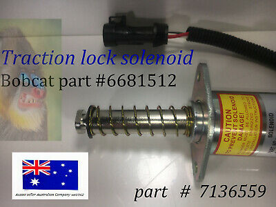 Bobcat TRACTION LOCK Solenoid Assembly 6681512 Skid Steer New Park Brake 7136559