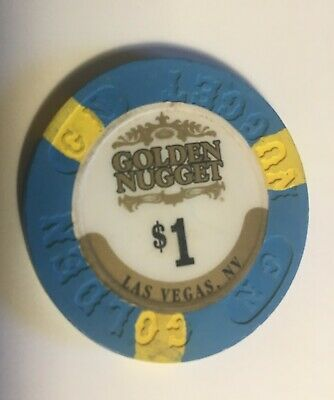 Vintage GOLDEN NUGGET  $1 Casino Chip Las Vegas 2.99 Shipping