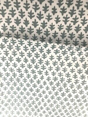 Sister Parish Gray Blue and  White Burmese  Cotton Fabric by the Half yard