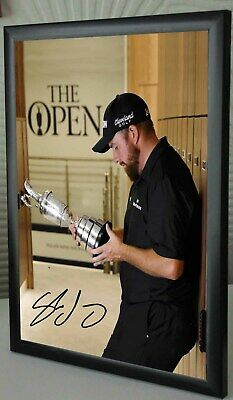 SHANE LOWRY Open Golf Champion 2019 Framed Canvas Portrait Signed #3