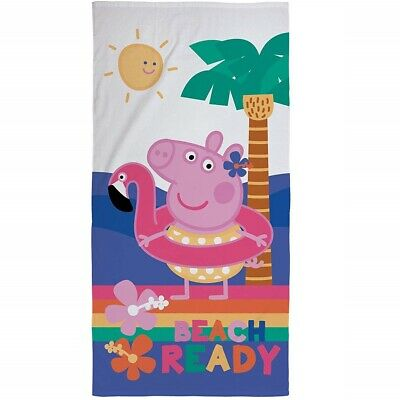 Peppa Pig Beach Towel 100% Cotton 140 x 70 cm Official Character Bath Swim NEW