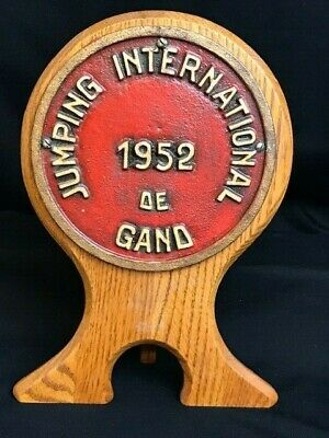 Vintage French EQUESTRIAN AWARD PLAQUE,1952