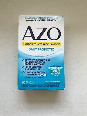 Azo, Complete Feminine Balance, Daily Probiotic, 30 Once Daily Cap.EXP 12/20