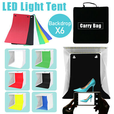 40cm LED Light Tent Photography Room Photo Studio USB Soft Box Lighting Backdrop