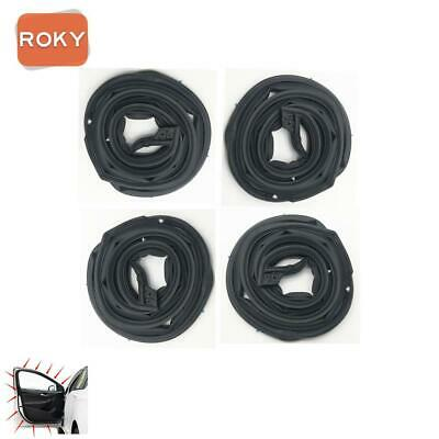4 PC 4 Doors Opening Weatherstrip Seal Rubber for Honda CR-V 2007-2011
