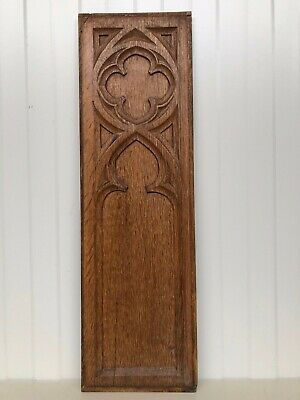 Stunning Gothic Church panel in wood -carved panel in oak (2)