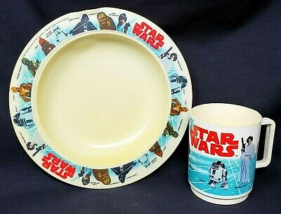 DEKA Star Wars Vintage Cup & Bowl 1977 Plastic Set of 2 Made in USA Collectible