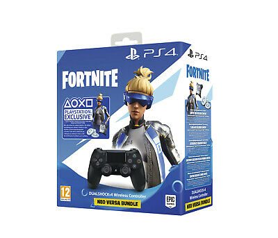 SONY DUALSHOCK 4 Wireless-Controller Jet Black:Fortnite Neo Versa Bundle Control
