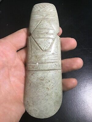 Pre Columbian Jade Costa Rican Axe God Not Mezcala