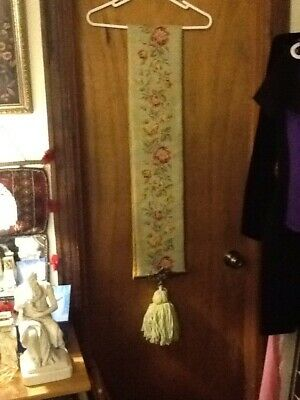 """Vintage Needlepoint Bell Pull 65"""" Long"""