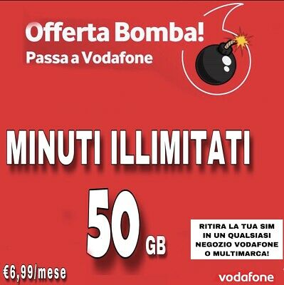 Special 50Gb €6.99 Minuti Illimitati Tim Wind Ho Mobile Iliad Coupon Fastweb