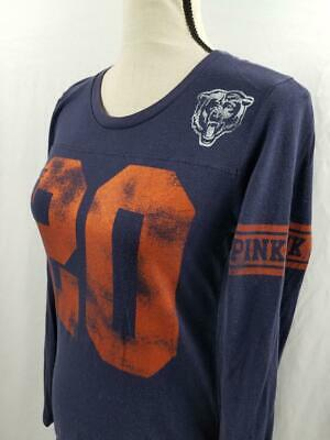 44350e0a NEW WOMENS CHICAGO Bears 3/4 Sleeve Grey Raglan Football Shirt NFL ...
