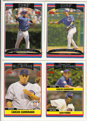 2006 Topps Update Chicago Cubs team set –4 cards
