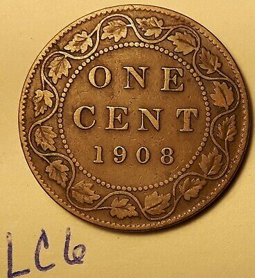 1908 Canada Large Cent Penny King EDWARD VII LC6