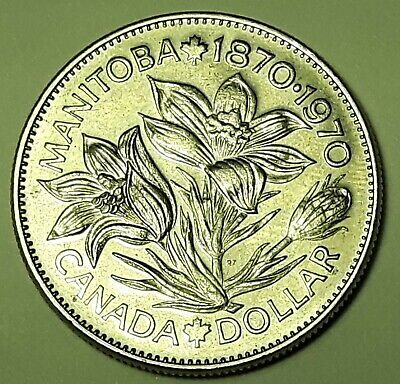 1870-1970 MANITOBA One Dollar Coin ELIZABETH II CANADA (Nickel)  K