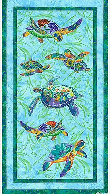 Calypso Turtles Quilt Panel * In Stock  *  Free Post *