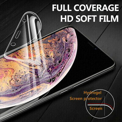 360° 10D Matte Frosted Hydrogel Full Screen Film For iPhone Xs Max XR 7 8 6 Plus