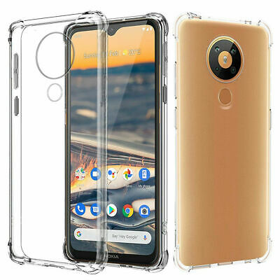 For Nokia 2.2 |3.2 |4.2 Heavy Duty Tough Gel Clear Shockproof Bumper Case Cover