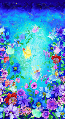 Fairy Fantasy Quilt Panel * Garden Graces * New * Gorgeous * Free Post * Digital