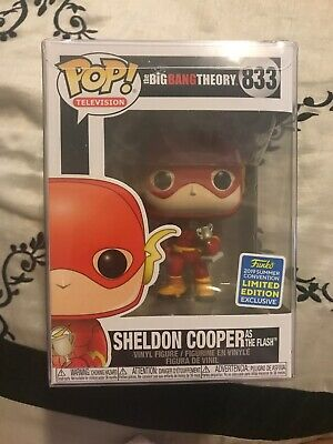Funko Pop Sheldon Cooper as Flash Big Bang Theory Shared SDCC 2019 IN HAND