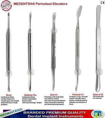 Dental Implant Surgical Periosteal Elevators Soft Tissue Flaps Elevation
