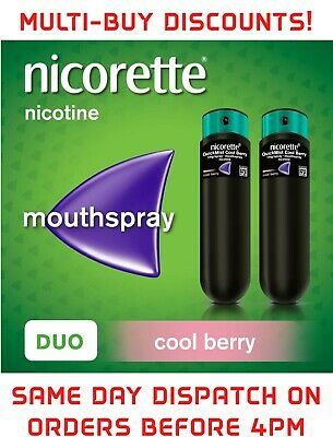 Nicorette Quickmist Cool Berry  Mouthspray - 2 x 150 sprays