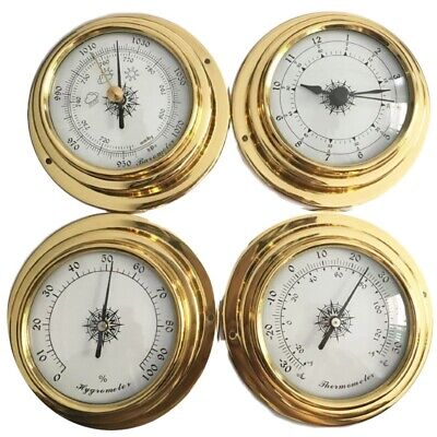 Hight Quality 4 Inches 4 Pcs/Set Thermometer Hygrometer Barometer Watches C Q8F8