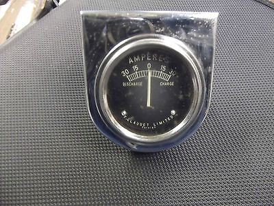 Vintage French amp meter (Claudete) for Classic car ..
