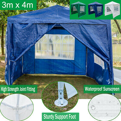Party Tent Outdoor PE Garden Gazebo Marquee Canopy Awning Picnic Waterproof 3x4m