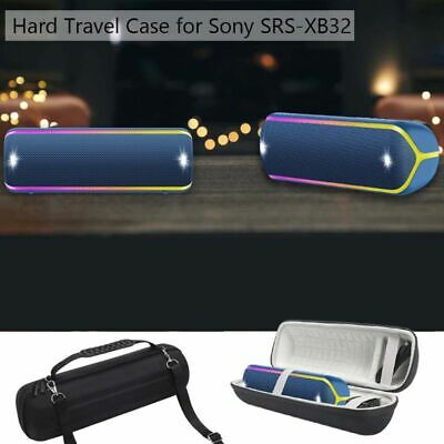 Round Hard Protective Case Box for Sony SRS-XB32 Extra Bass Bluetooth Speaker