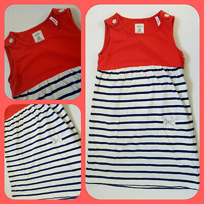 Joules Summer Girls Junior Katy Dress  Red Age 6 Years 116cm 100%cotton