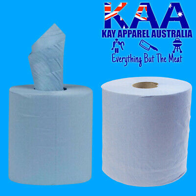 Blue Center Feed Paper Towel Roll, 400 Sheets per Roll, Roll Length 125m