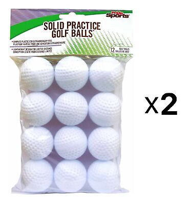 Pride Sports White Practice Golf Balls - Dimpled - 12 Count (2-Pack)
