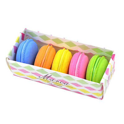 5Pcs Fashion Cute Macarons Colors Rubber Pencil Eraser Sweet Stationery  FE